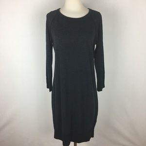 James Perse Black Space Dye Sweatshirt Dress sz 3